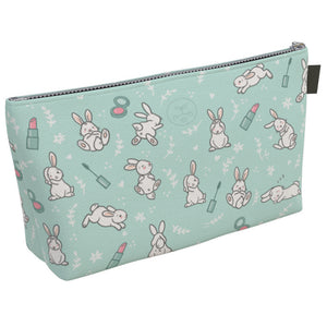 """Cruelty-free Bunny"" Large Cosmetic Bag"