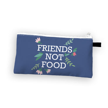 """Friends Not Food"" Cosmetic Bag"
