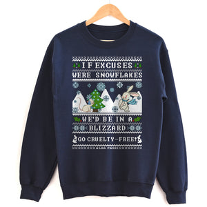 "No Excuses"" [cruelty-free] HOLIDAY Unisex Sweatshirt"