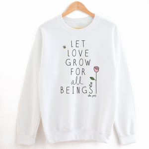 """Let Love Grow"" Crewneck Sweatshirt"