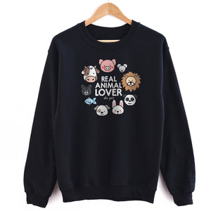 Real Animal Lover Unisex Sweatshirt