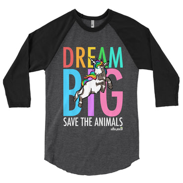 """Dream Big"" Unisex Baseball T-Shirt"