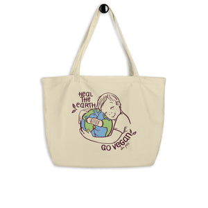 Heal the Earth Organic Shopping Bag
