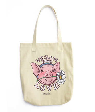 """Vegan means Love"" Shopping Bag"