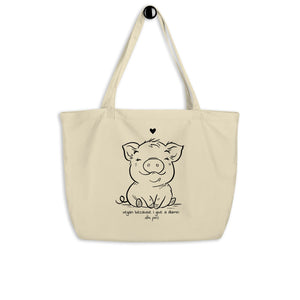 """Vegan Because I Give a Damn"" Organic Shopping Bag"