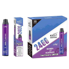 Ezzy Switch - 2-in-1 Disposable Vape Device - Mamba + Blue Razz (10 Pack)