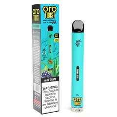 ORO Max Flow Twist - Disposable Vape Device - Aloe Grape (10 Pack)
