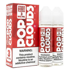 Pop Clouds E-Liquid - Strawberry - 2x60ml