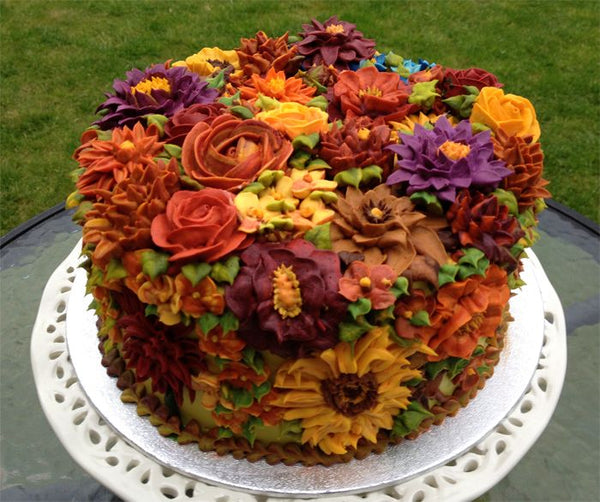 Fall Buttercream Flowers