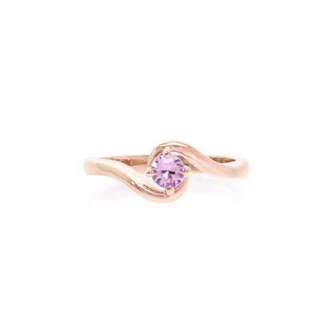 Pink Sapphire 14k Rose Gold Signature Expectancy Ring