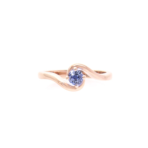 Blue Sapphire 14k Rose Gold Signature Expectancy Ring