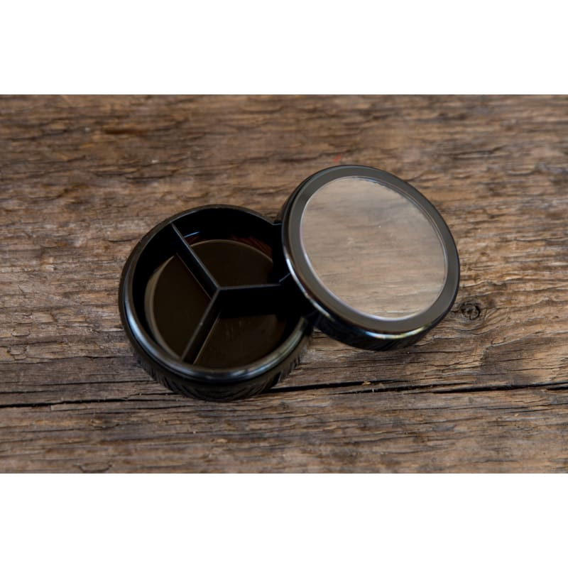 10 ml Black Plastic Jar w/3 Dividers