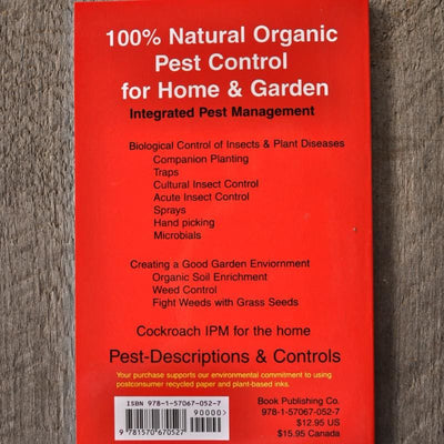 100% Natural Organic Pest Control for Home & Garden - Books