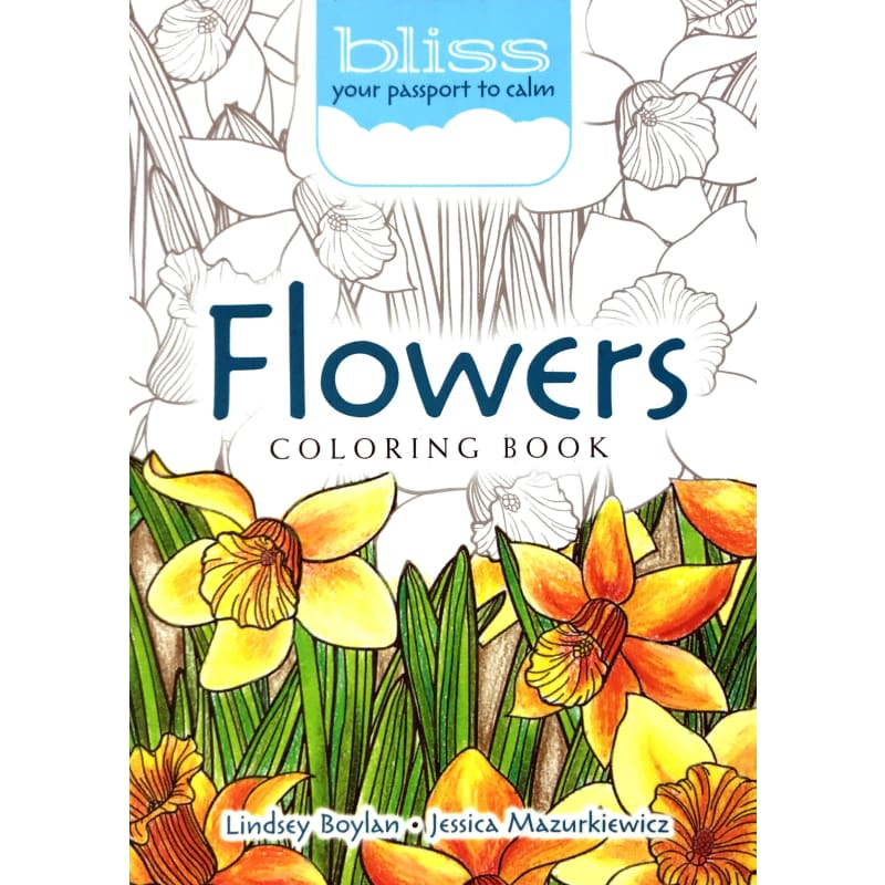 - Bliss Flowers Coloring Book