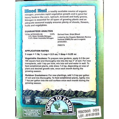 Blood Meal Mix Fertilizer - Gardening Supplies
