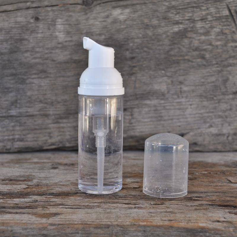 Clear Foaming Pump Bottle (1.7 oz)