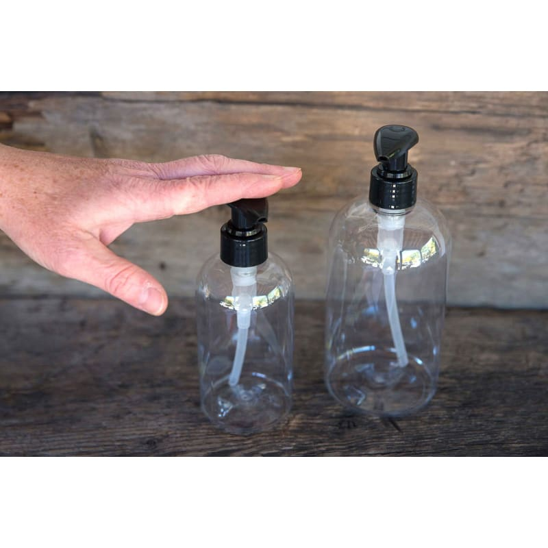 Clear Round Plastic Pump Bottle (16 oz.)