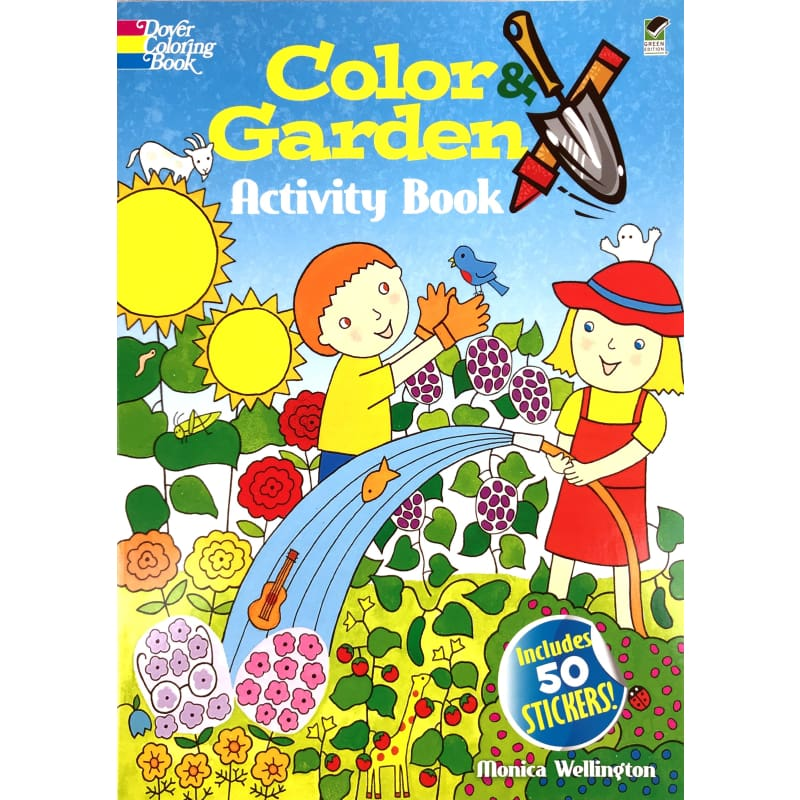 Color & Garden Activity Book - Books