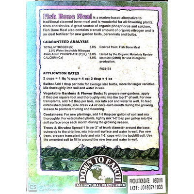 Fish Bone Meal Fertilizer - Gardening Supplies