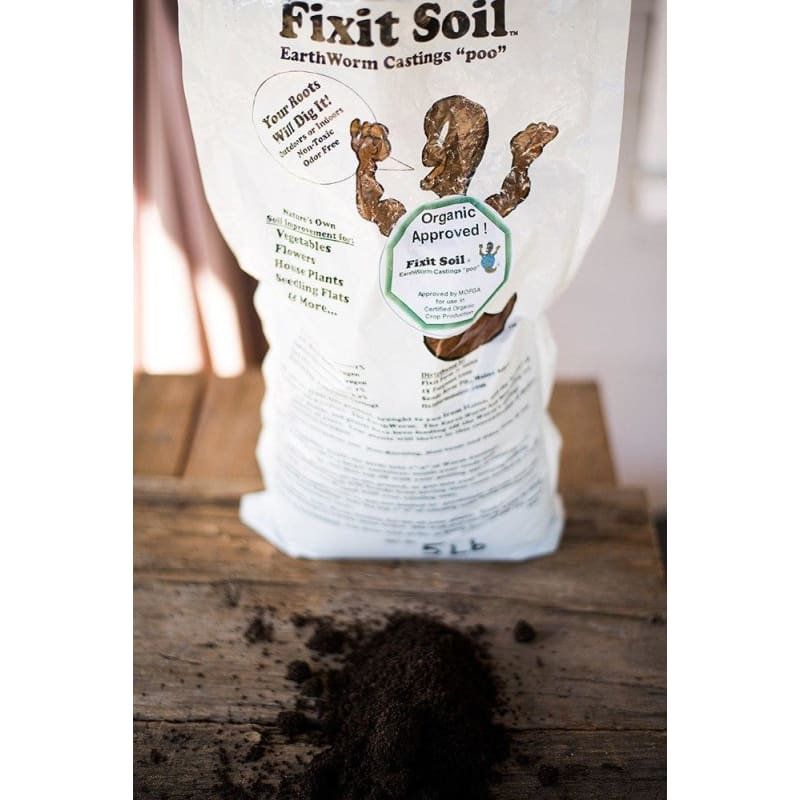Fixit Soil Worm Casting 5 Lb - Supplies