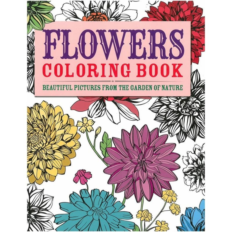 Flowers Coloring Book - Books
