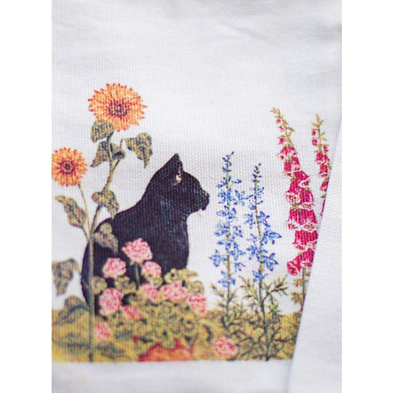 Sachet Bag - Black Cat With Flowers - Crafts
