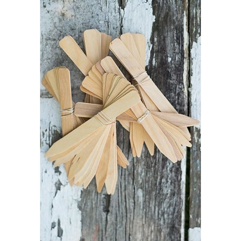 Six Inch Wood Labels (50)