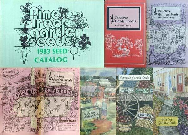 Pinetree Garden Seeds historic catalog covers