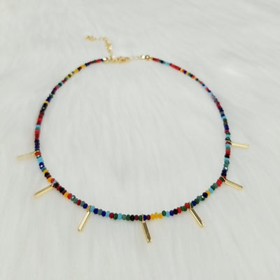 Beaded Choker with Bars