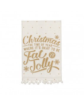Fat And Jolly Tea Towel