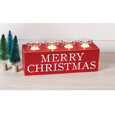 Merry Christmas Votive Holder