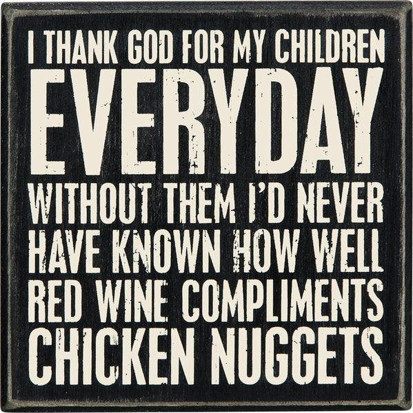 Box Sign - Wine And Nuggets