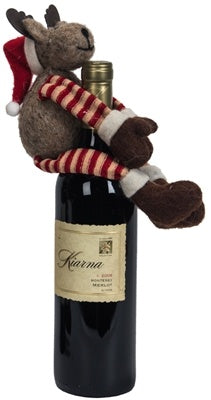 Wool Deer Wine Bottle Hugger