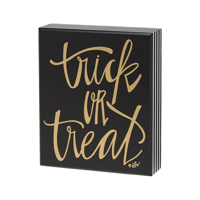 Trick Or Treat Striped Box Sign