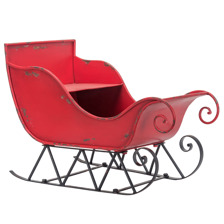 Red Metal Sleigh