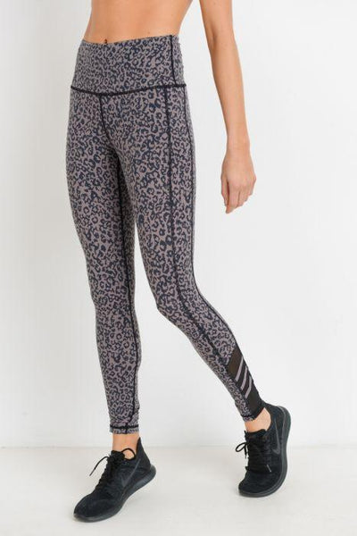 Highwaist Leopard Print Mesh Leggings