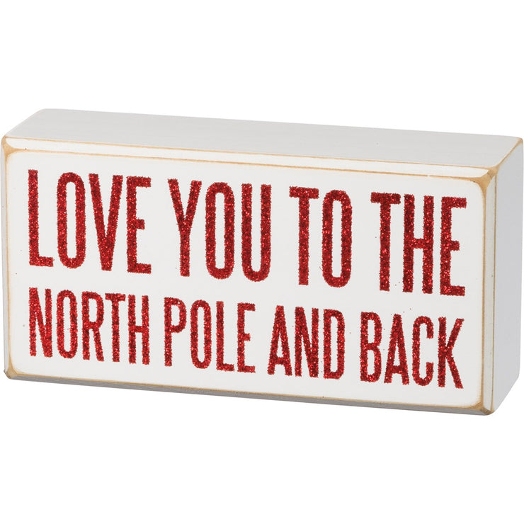 Box Sign - North Pole