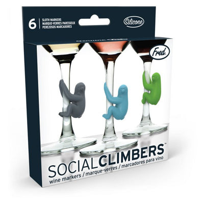 Social Climbers- Sloth Drink Markers