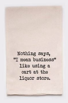 Liquor Store Tea Towel