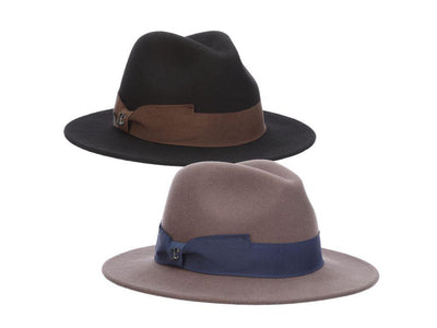 Wool Felt Safari Brim W/ Bow Hat