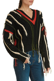 Multi Fringe Sweater