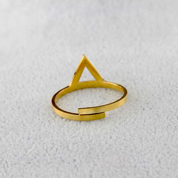 Minimalist Triangle Midi Ring