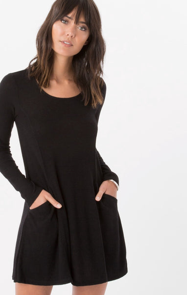 The L/S Marled Swing Dress