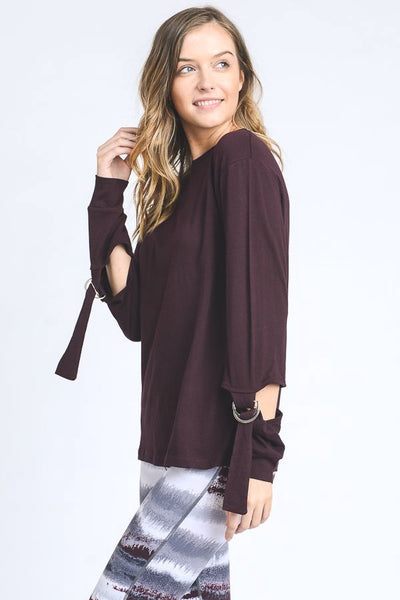 Buckle Sleeve Garment- Dye Top