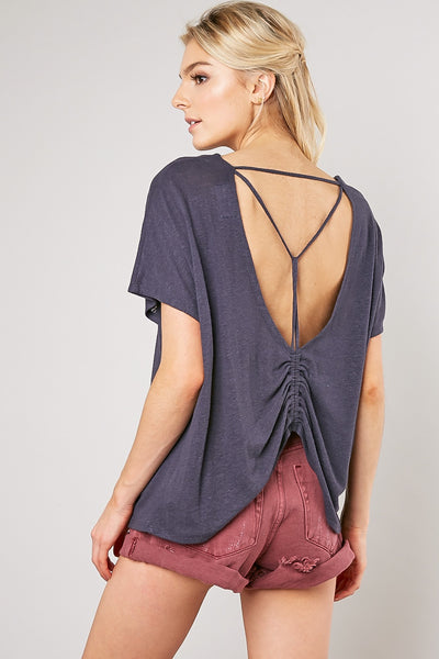 Caged-Back Trapeze Top