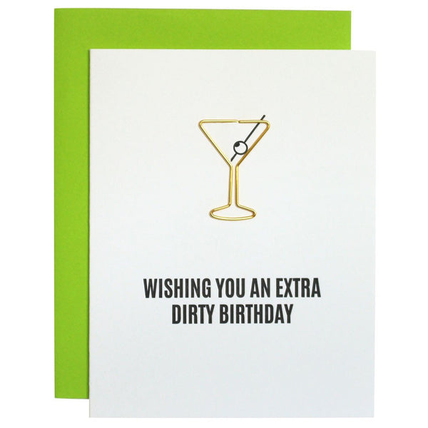 Extra Dirty Birthday Paperclip Letterpress Card