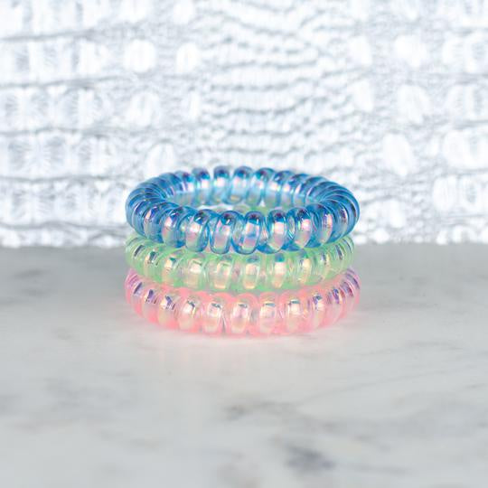 Cotton Candy Iridescent Hair Tie Set
