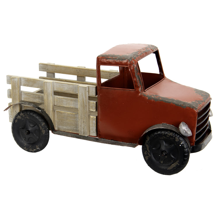 Red Decorative Pickup Truck