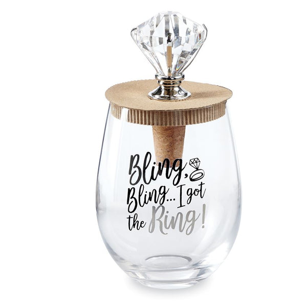 Wedding Bling Glass Topper Set
