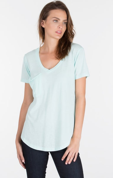 The Pocket Tee- Mineral Blue-Short Sleeve Tees - Bittersweet Ivy Womens Clothing Boutique Frisco Texas - 1